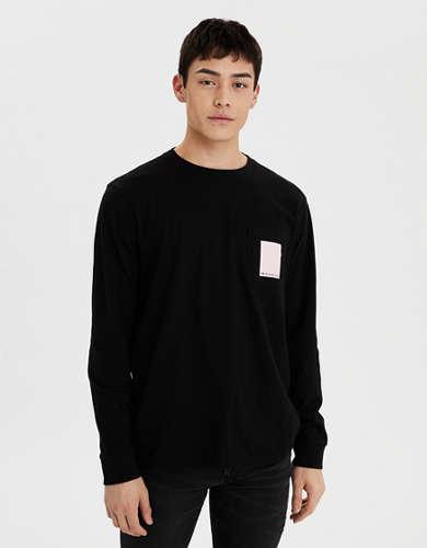 AE Long Sleeve Graphic Pocket T-Shirt