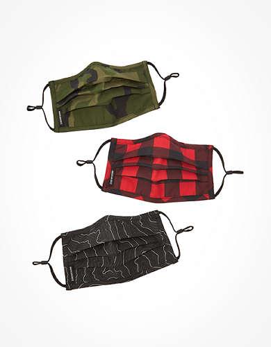 AEO Printed Pleated Masks 3-Pack