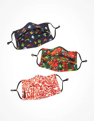 AEO Holiday Pleated Masks 3-Pack