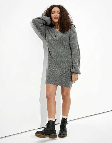 AE Henley Sweater Dress
