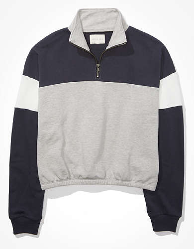 AE Fleece Cinched Quarter Zip Sweatshirt