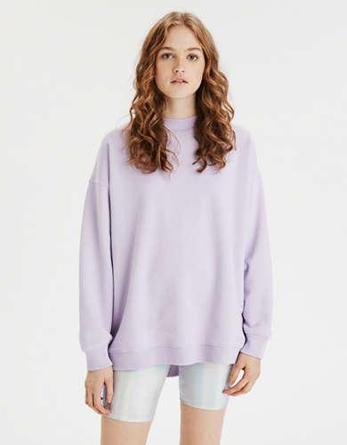 AE Fleece Oversized Vintage Crew Neck Sweatshirt