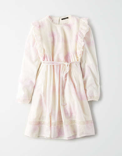 AE Studio Long Sleeve Pintuck Mini Dress