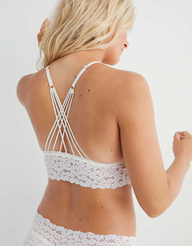 Aerie Animal Lace Padded Strappy Bralette