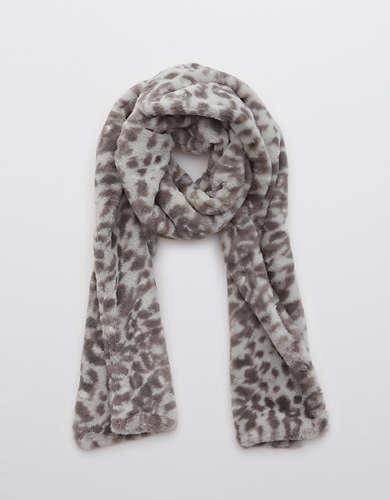 Aerie Faux Fur Leopard Scarf