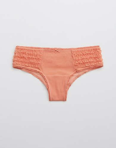 Aerie Mesh Ruffle Cheeky Underwear