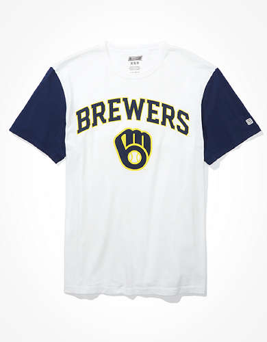 Tailgate Men's Milwaukee Brewers Colorblock T-Shirt