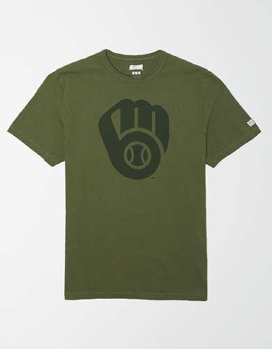 Tailgate Men's Milwaukee Brewers Tonal Graphic T-Shirt