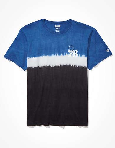 Tailgate Men's Philadelphia 76ers Dip-Dye T-Shirt