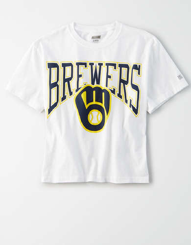 Tailgate Women's Milwaukee Brewers Cropped T-Shirt
