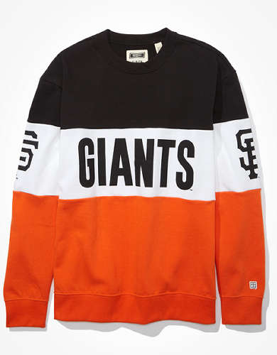Tailgate Women's San Francisco Giants Colorblock Sweatshirt