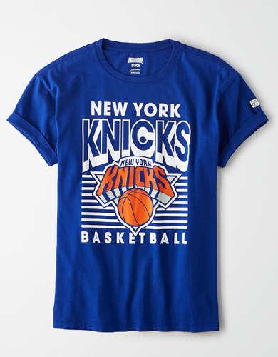 Tailgate Women's NY Knicks Rolled Sleeve T-Shirt