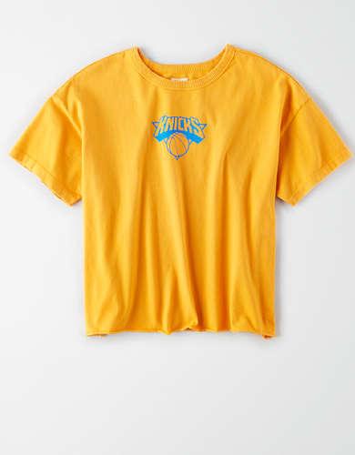 Tailgate Women's New York Knicks Cropped T-Shirt