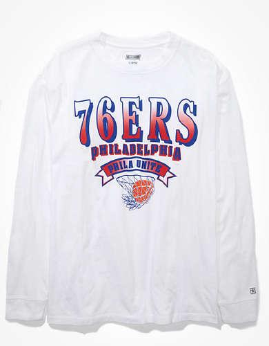 Tailgate Women's Philadelphia 76ers Long Sleeve Oversized T-Shirt
