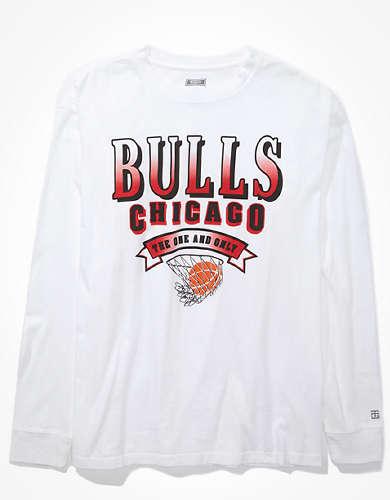 Tailgate Women's Chicago Bulls Long Sleeve Oversized T-Shirt