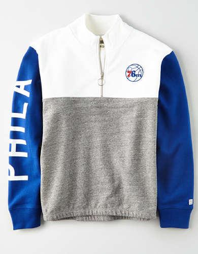 Tailgate Women's Philadelphia 76ers Quarter-Zip Sweatshirt