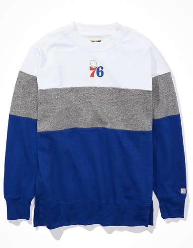 Tailgate Women's Philadelphia 76ers Colorblock Sweatshirt