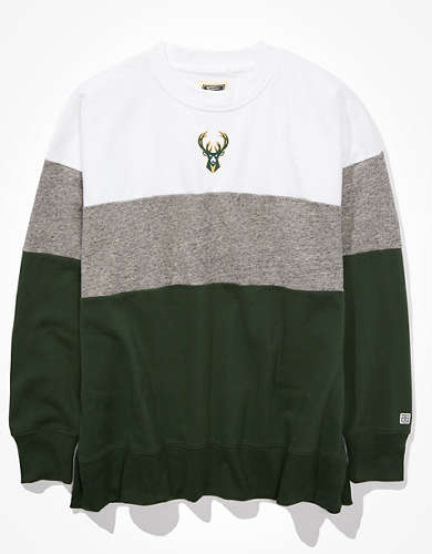 Tailgate Women's Milwaukee Bucks Colorblock Sweatshirt