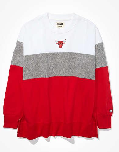 Tailgate Women's Chicago Bulls Colorblock Sweatshirt