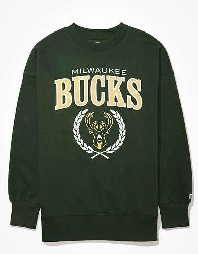Tailgate Women's Milwaukee Bucks Oversized Fleece Sweatshirt