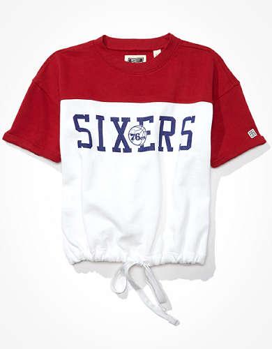 Tailgate Women's Philadelphia 76ers Tie-Front Sweatshirt