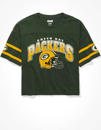 Tailgate Women's Green Bay Packers Cropped T-Shirt