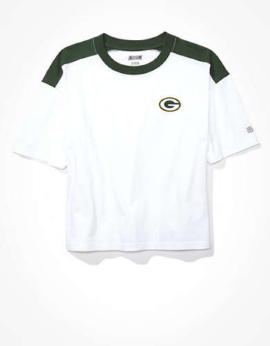 Tailgate Women's Green Bay Packers Boxy Cropped Tee