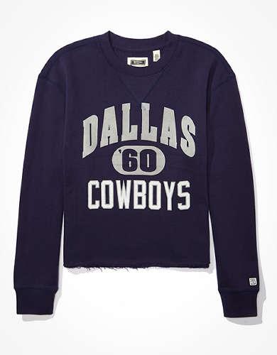 Tailgate Women's Dallas Cowboys Raw Hem Sweatshirt