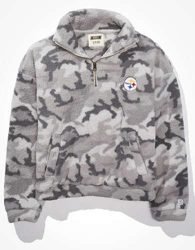 Tailgate Women's Pittsburgh Steelers Sherpa Sweatshirt