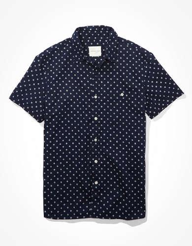 AE Poplin Short Sleeve Button-Up Shirt