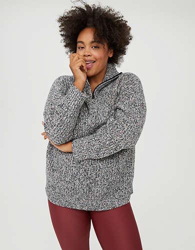OFFLINE Quarter Zip Sweater