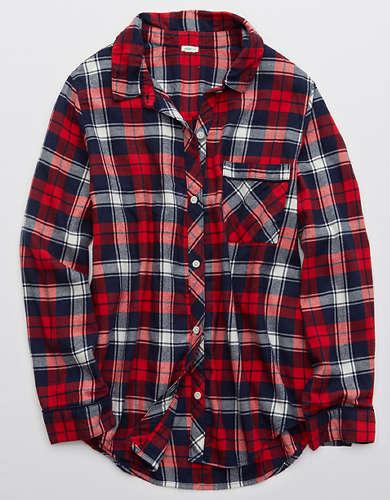 Aerie Flannel Pajama Shirt