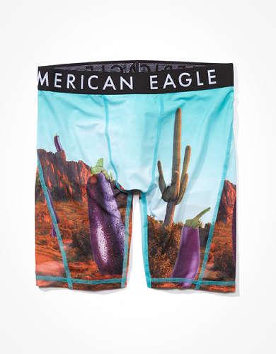 "AEO Eggplant Land 9"" Flex Boxer Brief"