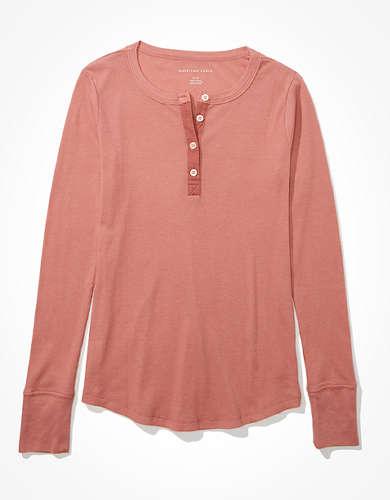 AE Long Sleeve Henley T-Shirt