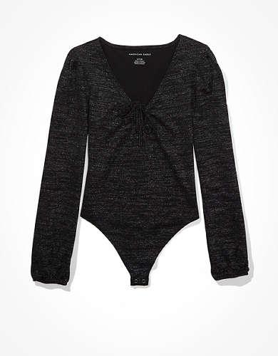 AE Shine Puff Sleeve Bodysuit
