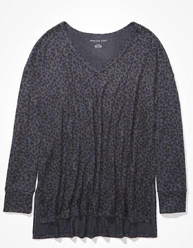 AE Soft & Sexy Plush Long Sleeve V-Neck T-Shirt