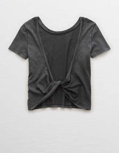 Aerie Distressed Twist Back T-Shirt