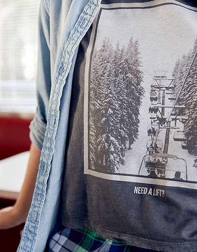 Aerie Cropped Crewneck T-Shirt