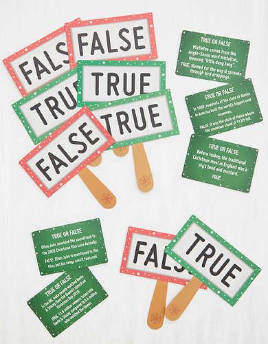 Christmas Entertainment True Or False Game