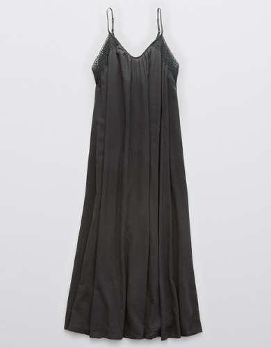 Aerie Crochet Trim Ankle Dress
