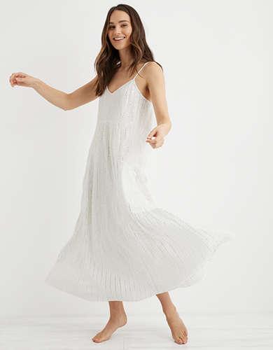Aerie Shine Stripe Midi Dress