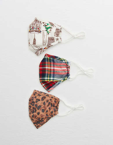 Aerie Reusable Cloth Adult Face Mask 3-Pack