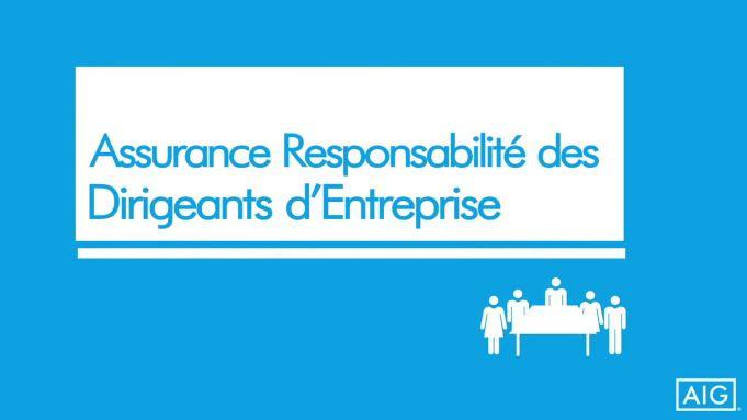 La responsabilité des Dirigeants d'Entreprise par AIG