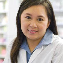 Woman in lab coat