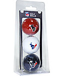 Team Golf NFL Houston Texans Golf Balls - 3 Pack
