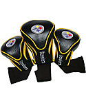 Team Golf Pittsburgh Steelers NFL Contour Sock Headcovers - 3 Pack