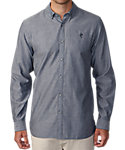 Ashworth Double Faced Pima Chambray Woven Shirt