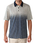 Ashworth Primatec Cotton Linen Ombre Stripe Polo