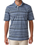 Ashworth Printed Slub Stripe Polo