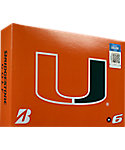 Bridgestone e6 NCAA Miami Hurricanes Golf Balls - 12 Pack
